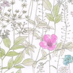 Irma has been digitally printed to retain exact brush strokes and the tiniest pencil marks. Euphorbia, poppies, astrantia and iberis create a delicate ethereal meadow.  100% Cotton Tana Lawn  F...