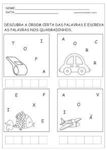 Pin Em Atividades De Portugues 1 Ano