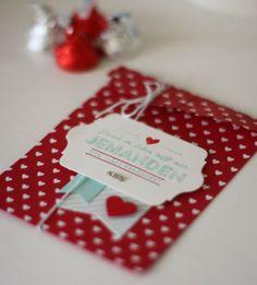 Geschenktüte für Valentinstag