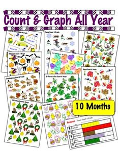 The original Count & Graph ALL YEAR  - Common Core Measurement & Data $