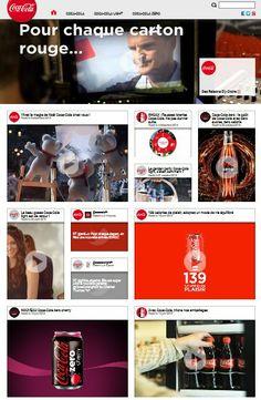 Coca Cola est une boisson universelle : ce site vitrine s'adresse à tous et concerne autant les enfants que les adultes. Le site Coca Cola France est composé de nombreuses vidéos qui présentent la marque ou l'une de ses composantes d'un point de vue différent. Cela nous permet de préciser que le site cible les consommateurs ou non comsommateurs de la boisson Coca Cola, désireux d'en connaitre davantage, tant au niveau de la marque que des produits.