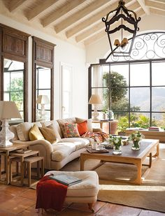 Such a cozy living room… Makes you want to curl up with a book and tea. A  In Andalusia/Spain.