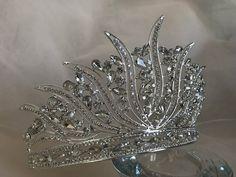 Silver Tiara Bridal Crown Crystal Wedding Tiara Wedding Hair | Etsy Bridal Crown, Bridal Tiara, Bridal Headpieces, Silver Tiara, Wedding Gloves, Lace Flower Girls, Crystal Crown, Crystal Wedding, Wedding Hair Accessories