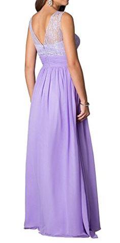Dressylady Elegant a Line Lace Prom Party Evening Dress Long Chiffon Bridesmaid  Dress at Amazon Women s Clothing store  074f95a9e74e