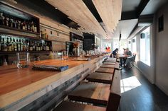 County General; reclaimed wood decor and awesome sammies