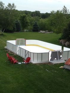 Synthetic ice rink for backyard or basement!