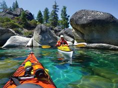 Lake Tahoe KAYAKING!! Ughhh I wanna go here and do just that!!