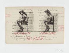Artwork page for 'Adaptability/Compliance/Silence', William Kentridge, 1999
