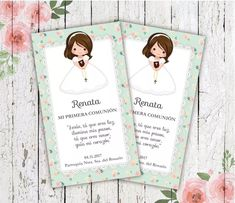 stamps first communion babe / communion cards rnrnSource by First Communion Invitations, Ideas Para Fiestas, First Holy Communion, Babe, Block Prints, Ideas Party, First Communion