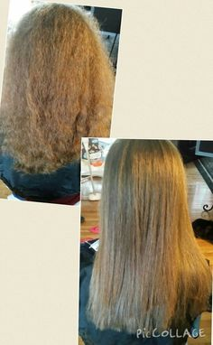 Haircut and straightened 12 inches Healthy hair Hairdresser