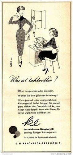 Original-Werbung/ Anzeige DDR / GDR 1960 - KÉ DESODORSTIFT / REICHALDA - ca. 115 x 240 mm
