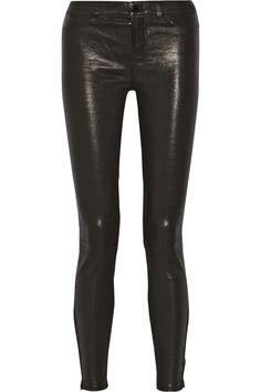 J Brand|L8001 stretch-leather skinny pants|NET-A-PORTER.COM