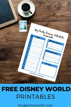 Disney World Daily Itinerary (Printable Templates) - Best of Double Your WDW - Disney World Parks, Disney World Planning, Disney World Vacation, Disney World Resorts, Disney Vacations, Disney World Tips And Tricks, Disney Tips, Disney Day, Walt Disney