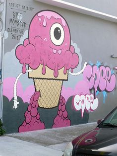 Buff Monster / Cope - Miami. #buffmonster http://www.widewalls.ch/artist/buff-monster/