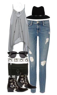 """""""Outfit for meeting up with friends"""" by ferned ❤ liked on Polyvore featuring Frame Denim, Maison Margiela, Cheap Monday, Yves Saint Laurent, rag & bone, Rebecca Minkoff and Toga"""