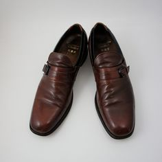 ed5b2fcffce9 Vintage 70 s Sears Cobbler s Choice Leather Buckle Dress Shoes - Mens Size  10.5 A (US