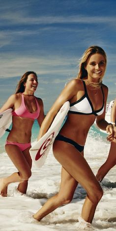 Bikinis for water sports. Loving the pink one! /Article via Sundance Beach