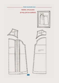 Sewing totarial and dress pattern Sewing Sleeves, Sewing Projects, Projects To Try, Sewing Courses, Modelista, Skirt Patterns Sewing, Pattern Drafting, Technical Drawing, Fashion Sewing