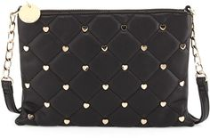 $28, Black Quilted Leather Crossbody Bag: Deux Lux Quilted Crossbody Bag Black. Sold by Last Call by Neiman Marcus. Click for more info: https://lookastic.com/women/shop_items/139963/redirect