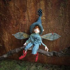 Your place to buy and sell all things handmade Needle Felted Owl, Fairy Gifts, Elf Doll, Fairytale Art, Creepy Dolls, Wire Crafts, Fairy Dolls, Felt Toys, Felt Animals