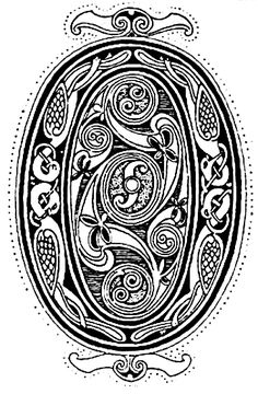 Celtic Symbols - Initial from the Gospels of Lindisfarne