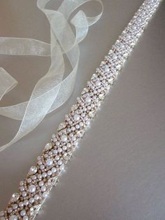 Bridal belt sash Bridal Swarovski crystal belt by SabinaKWdesign Couture Embroidery, Beaded Embroidery, Bridal Accessories, Bridal Jewelry, Fashion Accessories, Crystal Belt, Bridal Sash Belt, Wedding Belts, Hand Embroidery Designs