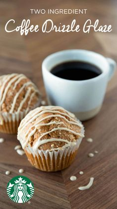 Coffee glaze recipe: Whisk together 1 cup of powdered sugar and 1-2 tablespoons (warm) strong, brewed Starbucks coffee in a small bowl until smooth. Drizzle over your favorite croissants and pastries. Yum : )