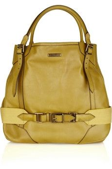 Burberry | Buckled leather tote | NET-A-PORTER.COM - StyleSays
