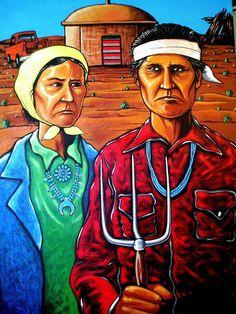 """""""Navajo Gothic"""" 2006, Ryan Singer, http://ryansingerart.com/ga...  --  Dine' Artist"""