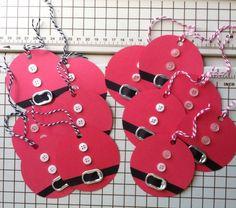 """12-15 2"""" Santa gift tags"""