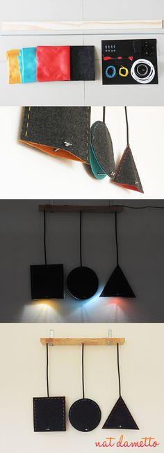 Luminária Geométrica de Feltro DIY - Nat Dametto
