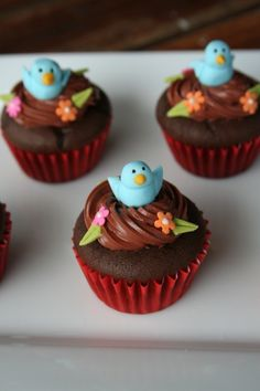 Inch High Bird's Nest Cakes By emsy77 on CakeCentral.com
