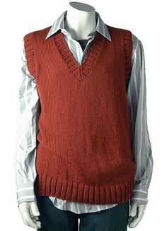 Knitting Pattern V Neck Sleeveless Jumper : Knit a mens sleeveless V-neck sweater: free knitting pattern Mens...