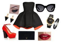 """oh my sassy"" by sierra-light ❤ liked on Polyvore featuring Parlor, Aperlaï, Prada, Karen Walker, Versace, Vita Fede, TheBalm, women's clothing, women and female"
