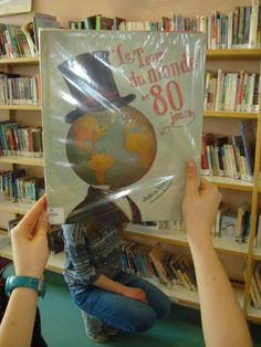 Bookface avec l'album de chez Milan Le Tour du monde en 80 jours de Jules Verne