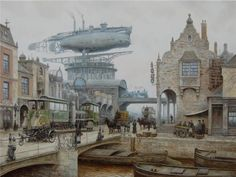 Horse Carriages and Dirigibles – Steampunk Paintings by Vadim Voitekhovitch - Pondly