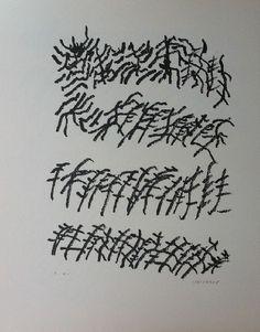 Henri Michaux : Lithography : Par la voie des rythmes V # printmaking Henri Michaux, Arthur Dove, Psychedelic Drugs, Catalogue Raisonne, Art Criticism, Learning To Write, Art Graphique, Mark Making, Gravure