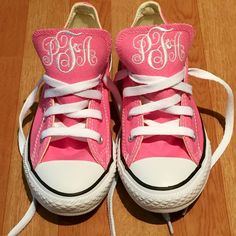 c0f240c175f3 Monogram Converse Sneakers- Youth (Pink)