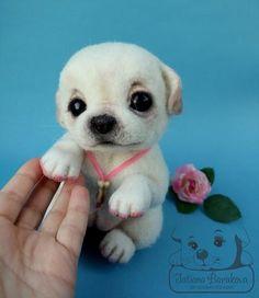 """Animal toys, handmade.  Fair Masters - handmade.  Buy """"Zefirchik.""""  Handmade.  Puppy by Tatiana Barakova."""