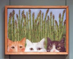 Cats with Asparagus from Julia