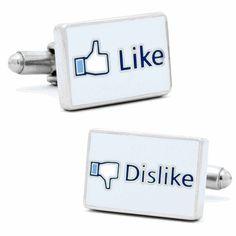 Like Dislike Social Network Personalized Cufflinks by Cufflinksman #Cufflinks #Fashion