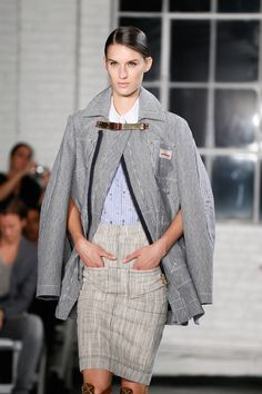 """""""Loved the overcoats, striped shirts and skirts."""" Altuzarra Spring 2013 RTW"""