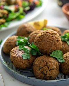 Baked Falafel, Falafels, Recipe Link, Plant Based Diet, Food Photography, Protein, Clean Eating, Muffin, Spices