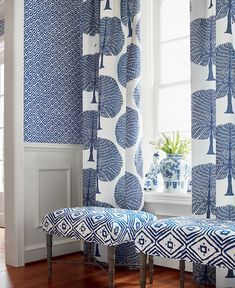 Check out the newest patterns from Thibaut Fabrics here at source4interiors.com How To Hang Wallpaper, Retro Wallpaper, Wallpaper Online, How To Make Curtains, Made To Measure Curtains, Animal Print Wallpaper, Mulberry Tree, Printed Curtains, Interior Windows