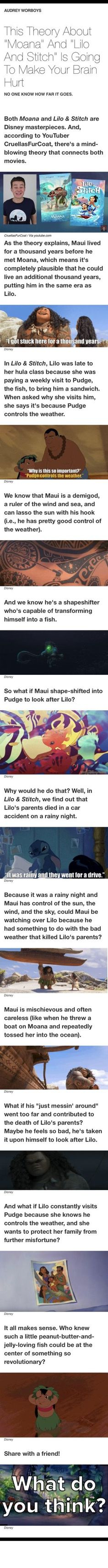 THAT WOULD BE SO SAD YET CUTE! WHAT IF ONE DAY LILO GETS STUCK IN BAD WEATHER WHILE VISITING HIM AND HE POPS OUT AND SAVES HER!