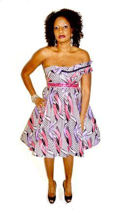 African Print Short Dress, The Shirley Dress