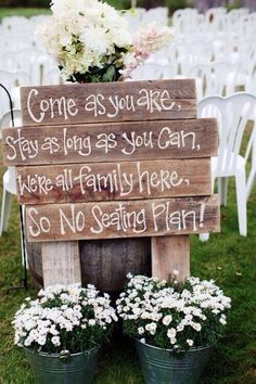 Perfect sign to put up at your wedding
