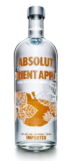 absolut oriental apple. New fave. (AKA absolut Brooklyn before)