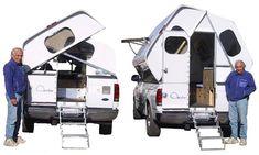 Pickup Camper, Ford F150 Pickup, Camper Trailers, Pickup Trucks, Travel Trailers, Truck Bed Camping, Camping Glamping, Small Campers, Cool Campers