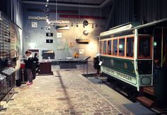 Helsinki's oldest tram depot (1900) houses the Tram Museum and was opened in June 2008 as part of the new Korjaamo culture centre. The refurbished museum presents tram history at the grassroots level, from a passenger's point of view. Branch of the City Museum. Photo: Elina Pitkänen. #Finland #Helsinki #Museum #TramMuseum #Ratikkamuseo #Family #Kids